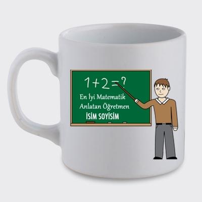 Kişiye Özel Matematik Öğretmeni Tasarımlı Baskılı Kupa Bardak