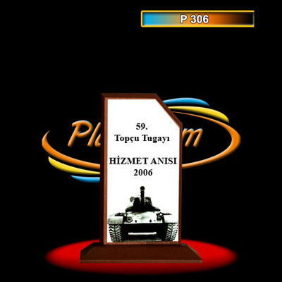 Ahşap Plaket Model 3