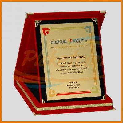 Kadife Kutulu Albüm Plaket 12x16 Model 5