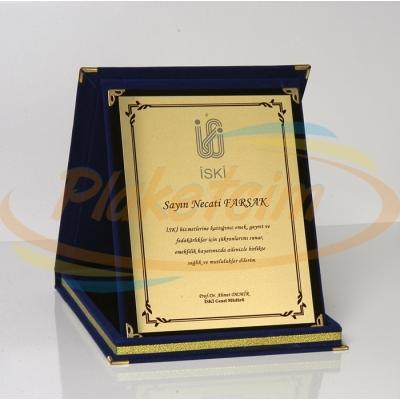 Kadife Kutulu Albüm Plaket 15 x 20 Model 11